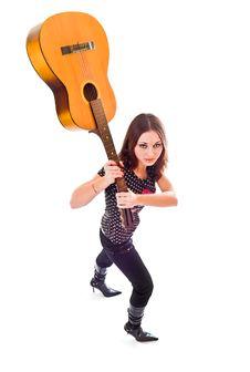 Free Break Guitar Royalty Free Stock Image - 3816056