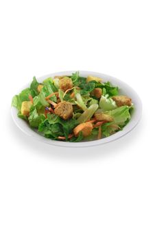 Generic Salad On White Stock Images