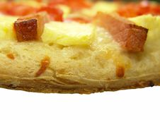 Free Pizza With Tomato, Ham And Pineapple Royalty Free Stock Photo - 3816245