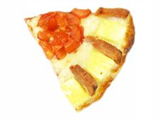 Free Pizza Slice With Tomato, Ham And Pineapple Royalty Free Stock Images - 3816329
