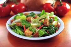 Free Restaurant Salad On Wooden Table. Royalty Free Stock Image - 3816336