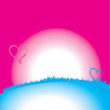 Free Valentine Card. Heart Shape Royalty Free Stock Photos - 3816418