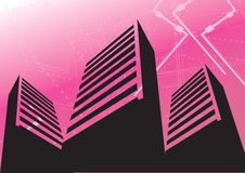 Group Of Sky Scrappers Royalty Free Stock Images