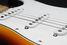 Free Electric Guitar Pickups And Strings Stock Photos - 3817693