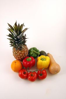 Free Pineapple And Vegetables. Royalty Free Stock Photography - 3819077