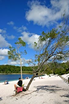 Lake McKenzie, Fraser Island, Australia Royalty Free Stock Photo