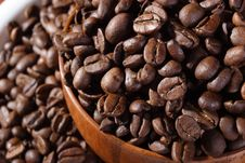 Free Coffee Beans In Bowl Close Up Royalty Free Stock Photography - 3819267