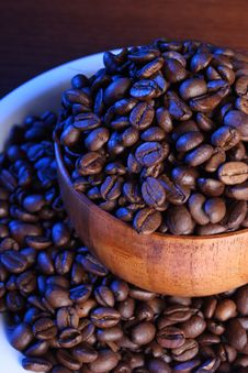 Free Backlit Coffee Beans Royalty Free Stock Image - 3819276