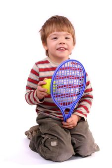 Free Little Tennis Player Stock Photography - 3819462