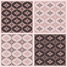 Scalloped Lace Seamless Vector Patterns Royalty Free Stock Image