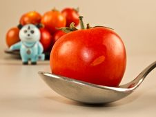Tomato Healthy Diet, Doctor In Background Royalty Free Stock Photo