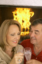 Free Husband And Wife Fireplace Stock Photos - 3826983