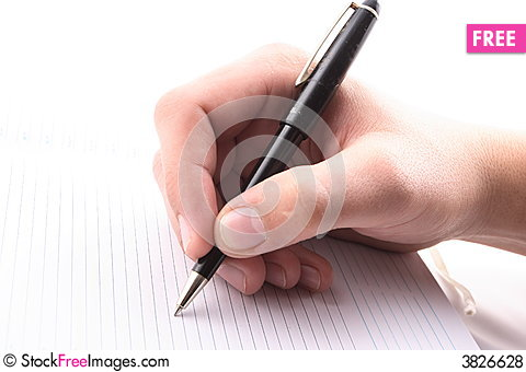 Hand With The Handle Daily Log Document  Free Stock Photos