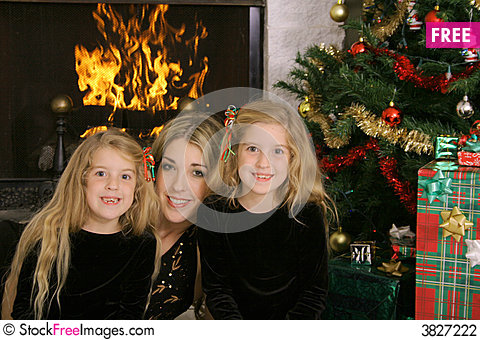 Free Mother With Twin Daughters Stock Photography - 3827222