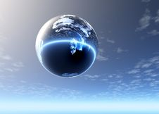 Free Glass Sphere Highly In The Sky Stock Photography - 3820682