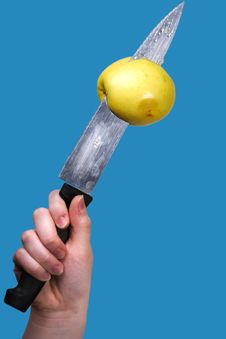 Free Impaling Apple Royalty Free Stock Photos - 3820768