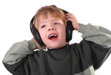 Free Boy In Headphones Stock Images - 3820774