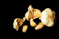 Free Isolated On Black Warm Garlics Stock Image - 3820861