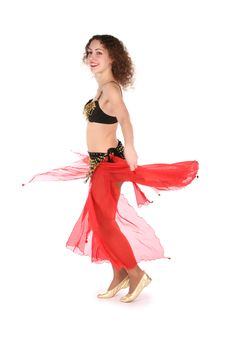 Free Bellydance Rotating Girl Stock Images - 3821534
