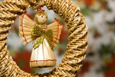 Free Angel Toy Made Of Straw Royalty Free Stock Photography - 3821547