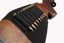 Free Rifle S Butt With Cartridges Royalty Free Stock Photo - 3822795
