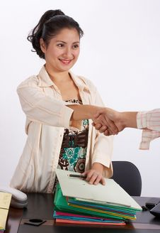 Free Handing A Document Stock Photos - 3823353