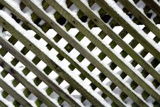 Free Fence In Snow Royalty Free Stock Photography - 3823627