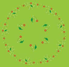 Ottoman Green Halic Vector Flower Stock Images