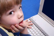 Free Boy Using A Laptop Royalty Free Stock Image - 3824236