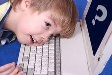 Free Boy Using A Laptop Stock Photo - 3824240