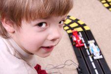 Free Boy Playing Stock Image - 3824241