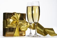 Free Pair Of Champagne Flutes Stock Images - 3824414