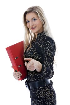 Free Business Woman With Folder Stock Images - 3824494