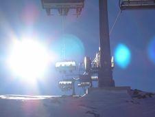 Free Snow Ski-lift & Sun Stock Photos - 3825293