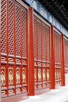 Free Ancient Temple Gate Of China Stock Photography - 3825412