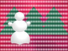 Free Snowman Greetings Card Royalty Free Stock Photos - 3825538