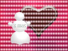 Free Snowman Greetings Card Stock Photos - 3825673