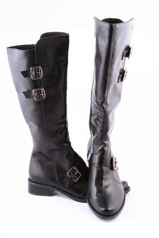 Free Fashionable Leather Female Boots Royalty Free Stock Photos - 3825788