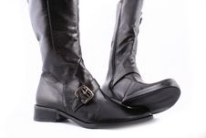 Free Fashionable Leather Female Boots Royalty Free Stock Photos - 3825798