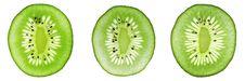 Free Three Different Kiwi Slices Stock Photos - 3825833