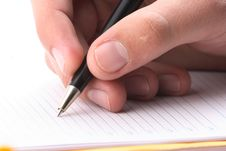 Free Hand With The Handle,  Daily Log,  Document Stock Photo - 3826530