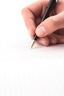 Free Hand With The Handle,  Daily Log,  Document Stock Photography - 3826572