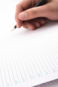 Free Hand With The Handle,  Daily Log,  Document Stock Photos - 3826613