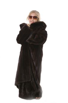 Free Little Girl In Mink Coat And Sunglasses Royalty Free Stock Images - 3826699