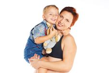 Woman With Child Stock Photos