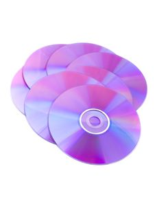 Free Compact Discs On White Background Royalty Free Stock Photos - 3827238