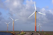 Free Windturbines In The Netherlands Royalty Free Stock Photos - 3827498