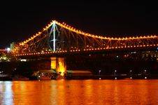 Free Brisbane Story Bridge At Night Royalty Free Stock Photos - 3828408