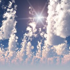 Free Fractal High Cumulus Clouds Stock Images - 3829024