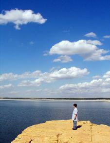 Free Small Boy, Big Lake Stock Photo - 3829120